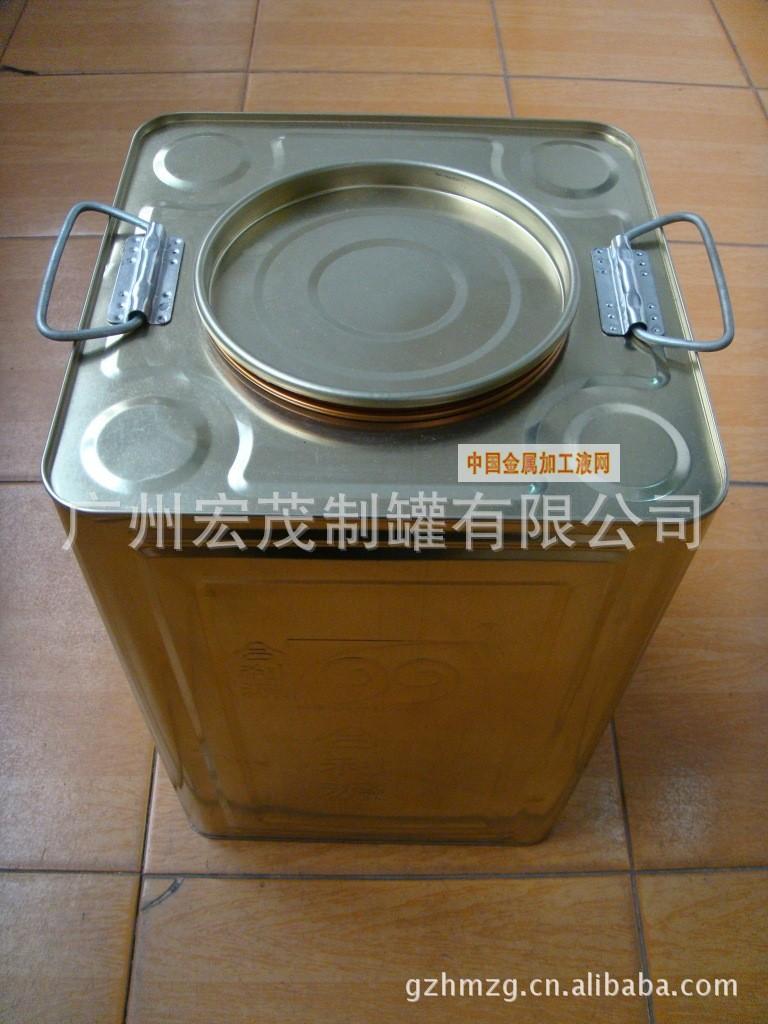 广州20kg方形手提铁桶/溶剂包装桶/油漆包装桶